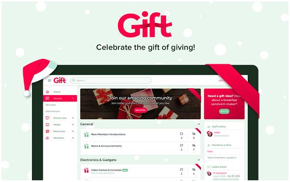 Gift - праздничная тема XenForo 2
