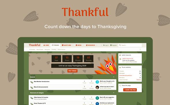 Thankful - шаблон для XenForo 2
