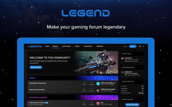 Legend - игровой стиль XenForo 2