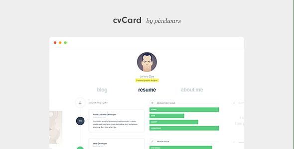 cvCard WP – простая в настройке и адаптивная тема под сайт-визитку