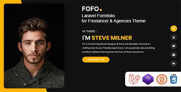 Fofo - Laravel Formfolio for Freelancer & Agencies Theme