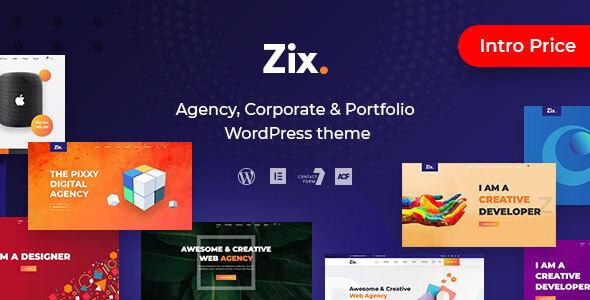 Zix - цифровое агентство и многоцелевая тема WordPress