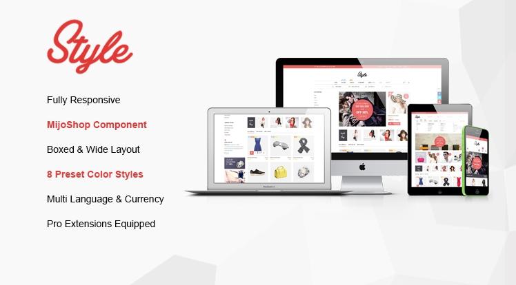 SJ Style - шаблон Joomla для электронной коммерции