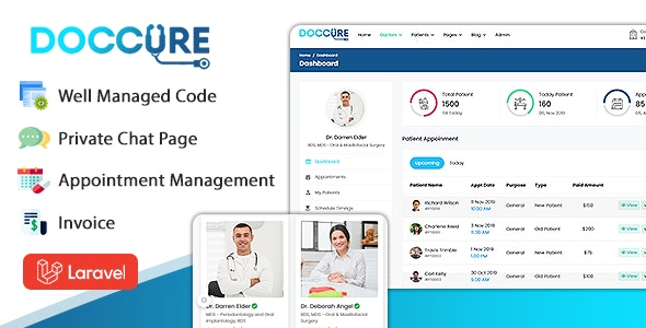 Doccure - Doctor Appointment Booking System in Laravel Template