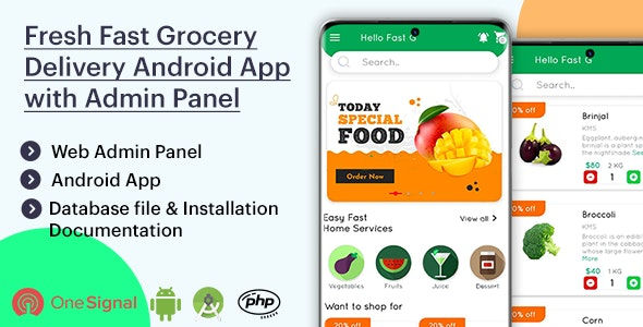Fresh Fast Grocery Delivery Native Android App