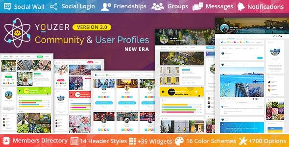 Youzer – профили пользователей и сообщества на сайте WordPress