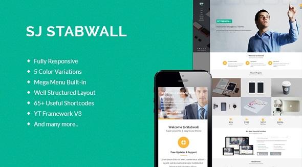 SJ Stabwall - бизнес тема Joomla
