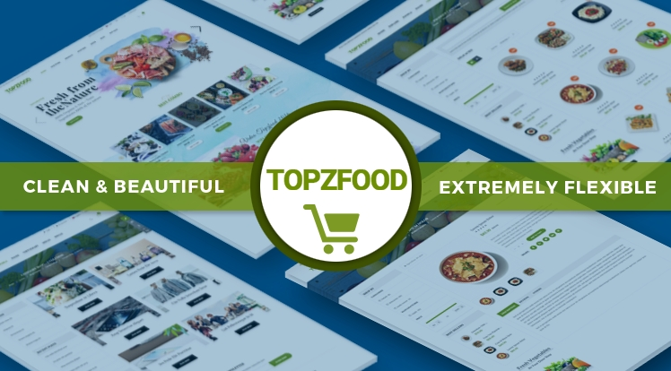 Sj TopzFood - шаблон еды Joomla VirtueMart
