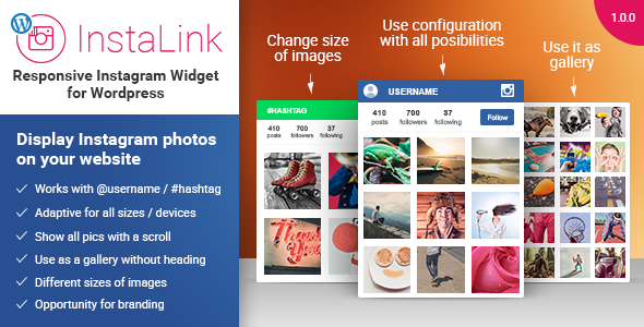 Instagram Widget - виджет инстаграм WordPress