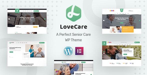 Lovecare - уход за пожилыми людьми WordPress тема