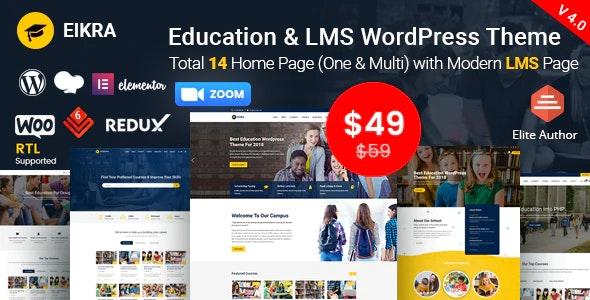 Eikra Education - шаблон на тему образования WordPress