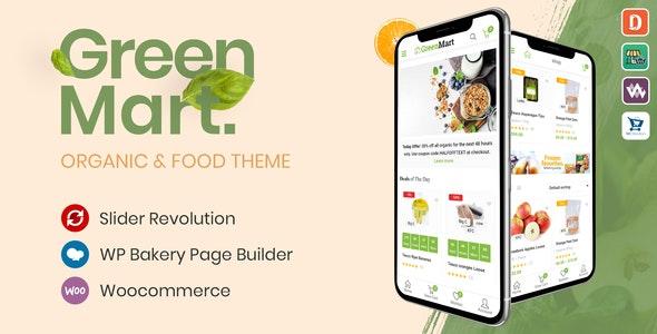 GreenMart - шаблон магазина еды WooCommerce WordPress