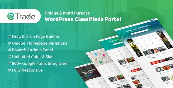 Trade – современный шаблон WordPress для доски объявлений