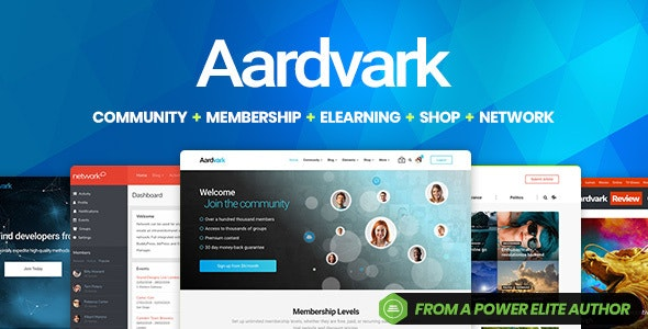Aardvark - шаблон для сообщества BuddyPress WordPress