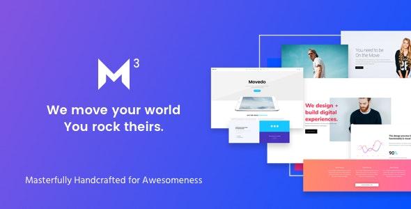 Movedo - креативный шаблон на WordPress