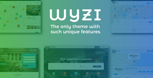 Wyzi - шаблон каталога/бизнес справочника WordPress