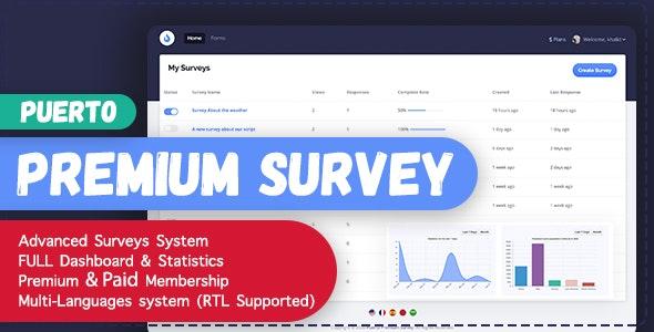 Puerto Premium Survey Builder - конструктор опросов