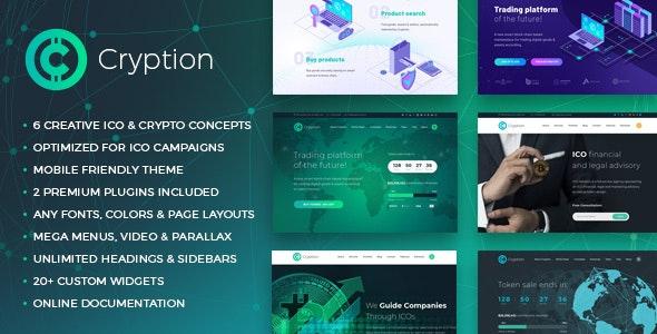 Cryption - тема WordPress для ICO, криптовалюты и блокчейна