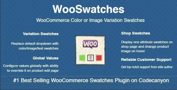 WooSwatches - преобразование переменных атрибутов WooCommerce
