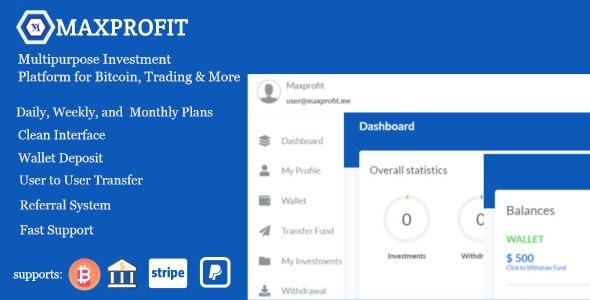 Max Profit - многофункциональная инвестиционная платформа