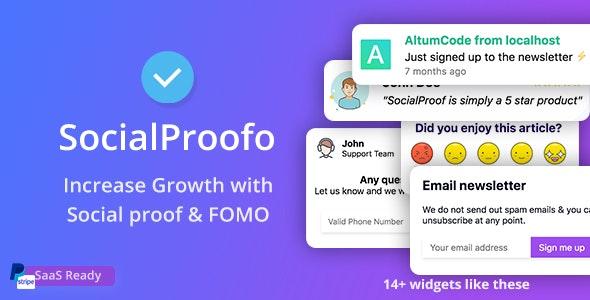 SocialProofo - скрипт для показа всплывающих окон на сайте