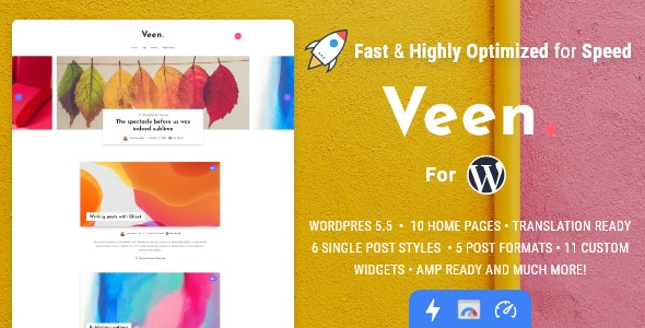 Veen - легкая тема для блога WP
