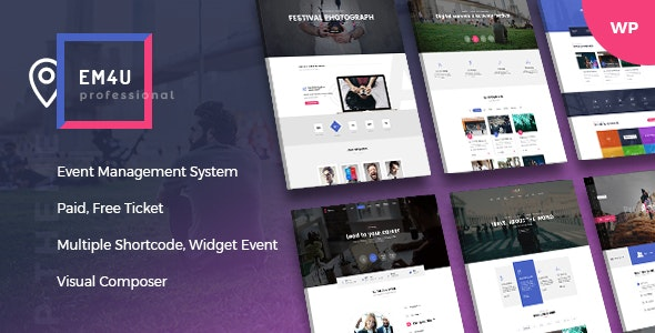 Event EM4U - шаблон событий и мероприятий WordPress
