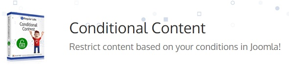 Conditional Content Pr - управление доступом к контенту Joomla