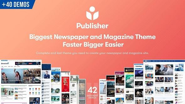 Publisher - новостной шаблон WordPress