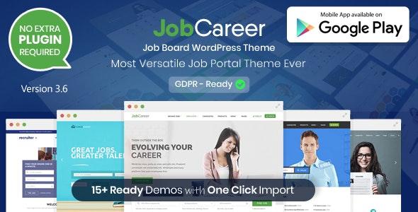 JobCareer - доска обьявлений/каталог/работа шаблон WordPress