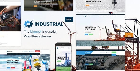 Industrial - фабричный бизнес WordPress тема