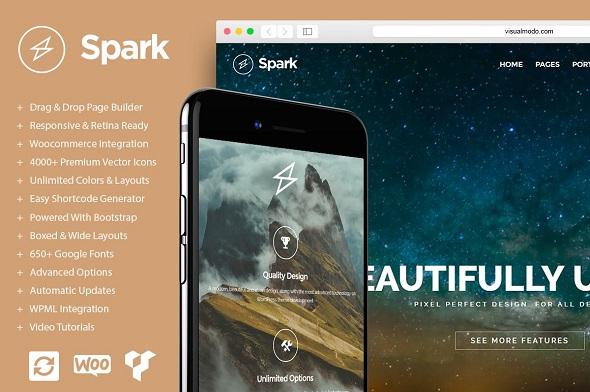 Spark - тема WordPress с перетаскиванием