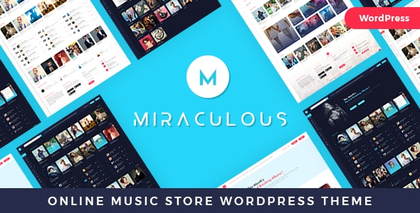 Miraculous - музыкальный шаблон WordPress