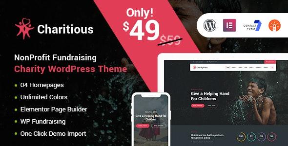 Charitious - тема WordPress по сбору средств