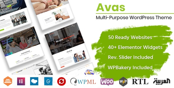 Avas - многоцелевая тема WordPress