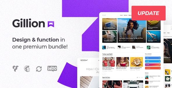 Gillion - шаблон для блога и новостей WordPress