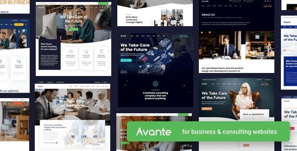 Avante - бизнес консалтинг тема WordPress