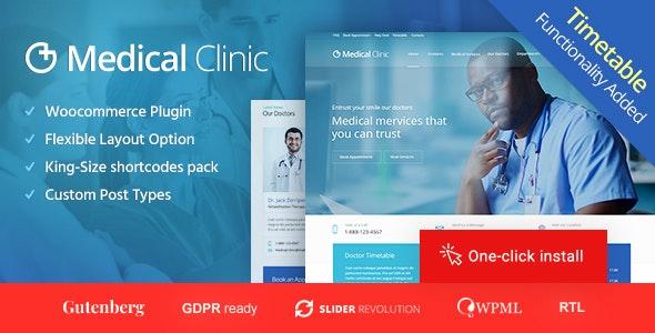 Medical Clinic - медицинская тема WordPress