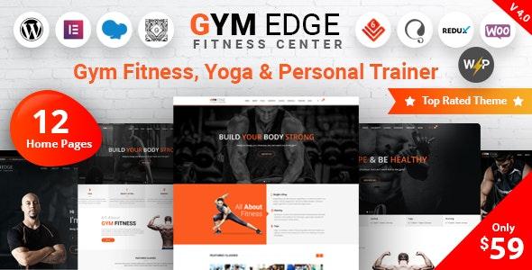 Gym Edge - фитнес шаблон WordPress
