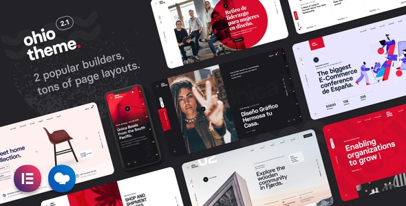 Ohio - креативное портфолио и агентство WordPress тема