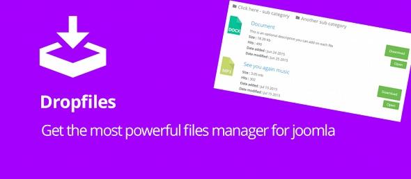 Dropfiles - мощный менеджер файлов для Joomla