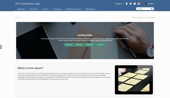 Landing Page - лендинг на IPS 4.5