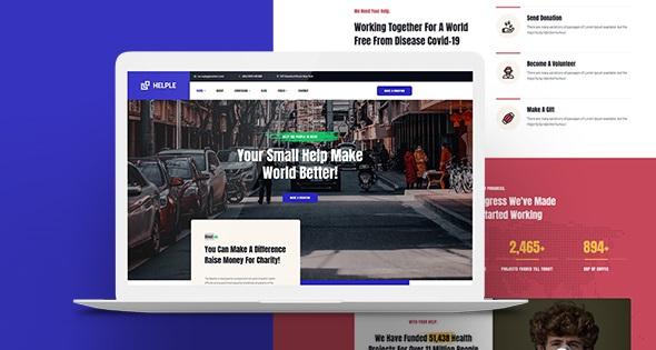 JA Helple - премиум шаблон Joomla для сайтов благотворительности, пожертвований
