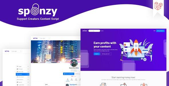 Sponzy - скрипт монетизации контента