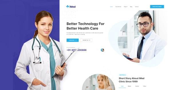 JA Vital - медицинский шаблон Joomla для больниц и здравоохранения