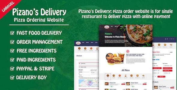 Pizano's Delivery - скрипт заказа пиццы