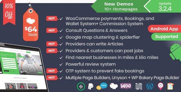 Listingo - мощный шаблон WordPress для бизнес-каталогов