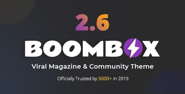 BoomBox - шаблон вирусного журнала для WordPress