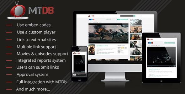 MTDb Streaming Plugin - плагин онлайн просмотра фильмов для MTDb