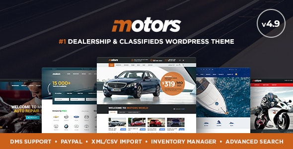 Motors wordpress